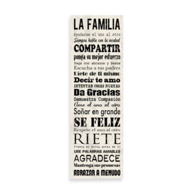 Spanish Family Rules Wall Art