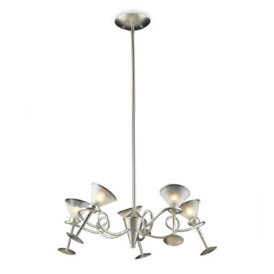 ELK Lighting 5-Light Chandelier in Silver Leaf