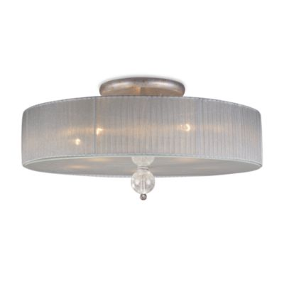ELK Lighting Alexis 1-Light Semi-Flush Fixture in Antique Silver