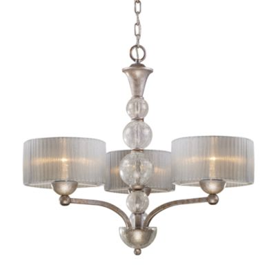 ELK Lighting Alexis 3-Light Chandelier in Antique Silver