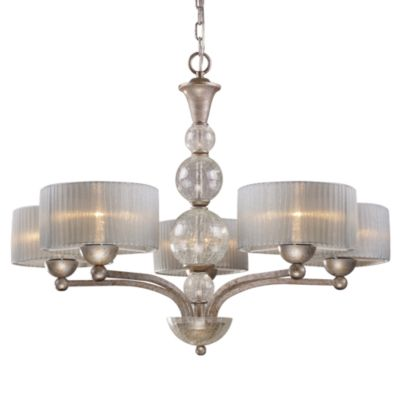 ELK Lighting Alexis 5-Light Chandelier in Antique Silver