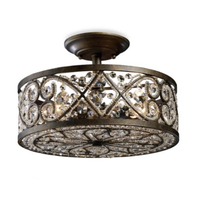 ELK Lighting Amherst 4-Light Semi-Flush in Antique Bronze