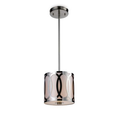 ELK Lighting Anastasia 1-Light Pendant in Polished Nickel