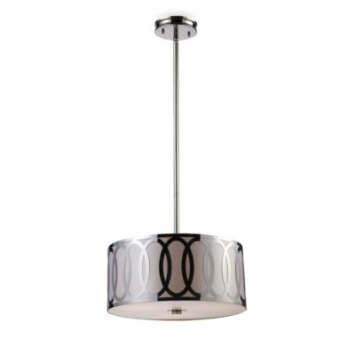 ELK Lighting Anastasia 3-Light Pendant in Polished Nickel