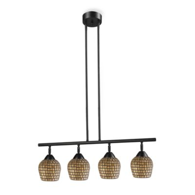 ELK Lighting Celina 4-Light Linear Light in Dark Rust/Gold Leaf