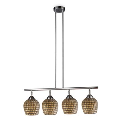ELK Lighting Celina 4-Light Linear Light in Polished Chrome/Gold Leaf