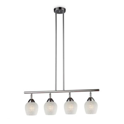 ELK Lighting Celina 4-Light Linear Light in Polished Chrome/White