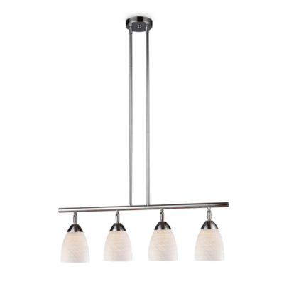 ELK Lighting Celina 4-Light Linear Light in Polished Chrome/White Swirl