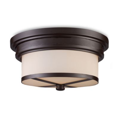 ELK Lighting Flush Mount 2-Light Fixture in Oiled Bronze