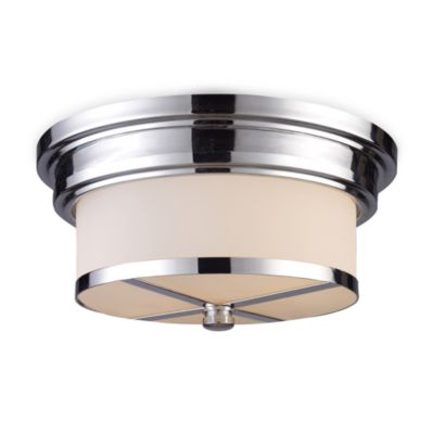 ELK Lighting 2-Light Flush Mount Ceiling Lamp in Polished Chrome
