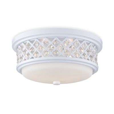 ELK Lighting Flush Mount 2-Light Ceiling Lamp in White