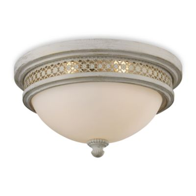 ELK Lighting Flush Mount 2-Light Fixture in Antique White