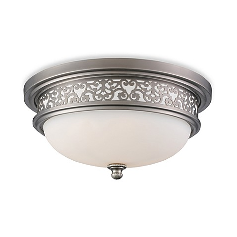 ELK Lighting Flush Mount 3-Light Fixture in Antique Pewter