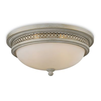 ELK Lighting Flush Mount 3-Light Fixture in Antique White
