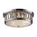 ELK Lighting Flush Mount 3-Light Fixture in Polished Chrome