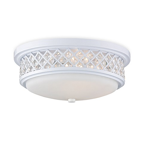 ELK Lighting Flush Mount 3-Light Ceiling Lamp in White