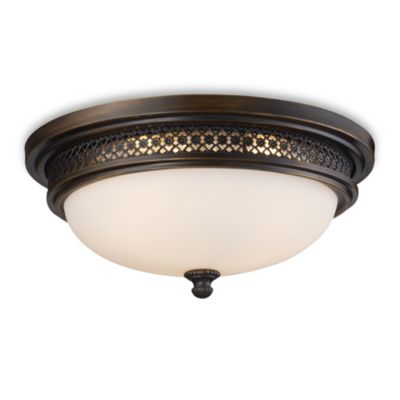 ELK Lighting Flush Mount 3-Light Ceiling Lamp in Deep Rust