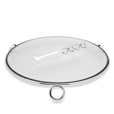 Godinger Ellipse Cheese Tray with Knife
