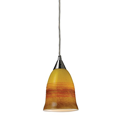ELK Lighting Horizon 1-Light Earth Pendant in Satin Nickel