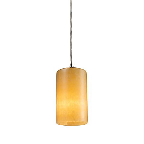 ELK Lighting Coletta 1-Light Pendant Ceiling Lamp Satin Nickel