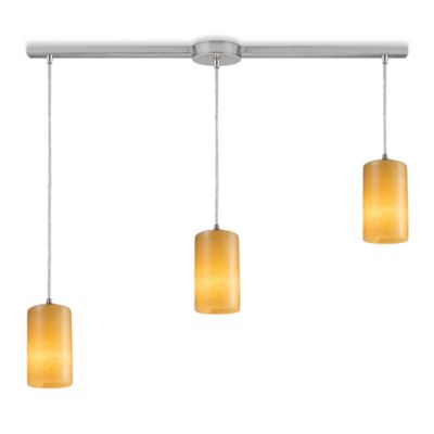 ELK Lighting Coletta 3-Light Pendant Ceiling Lamp Satin Nickel/Linear