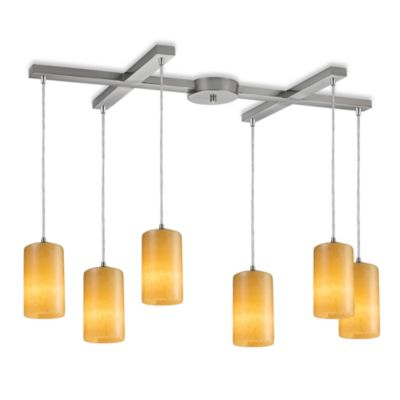ELK Lighting Coletta 6-Light Pendant Ceiling Lamp Satin Nickel