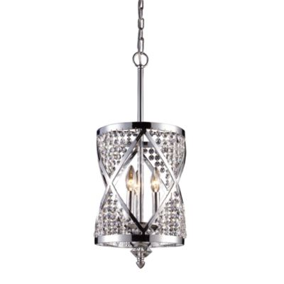 ELK Lighting Crystoria 3-Light Chandelier in Polished Chrome