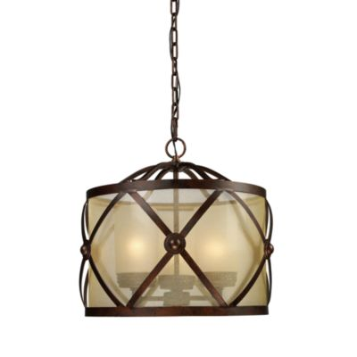 ELK Lighting Cumberland 3-Light Chandelier in Classic Bronze