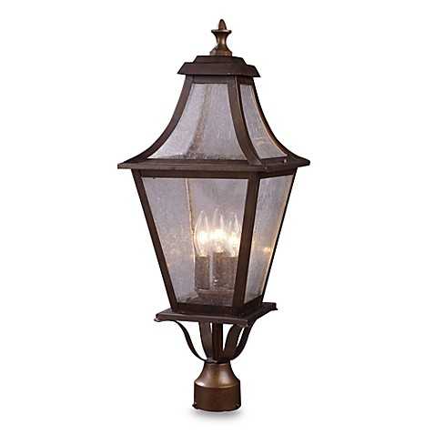 ELK Lighting Washington Ave 3-Light Outdoor Post Mount in Coffee Bronze