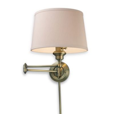 ELK Lighting Westbrook 1-Light Swing Arm Sconce in Antique Brass