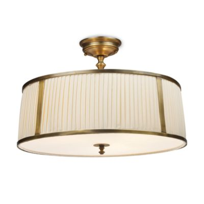 ELK Lighting Williamsport 3-Light Semi-Flush Fixture in Brass