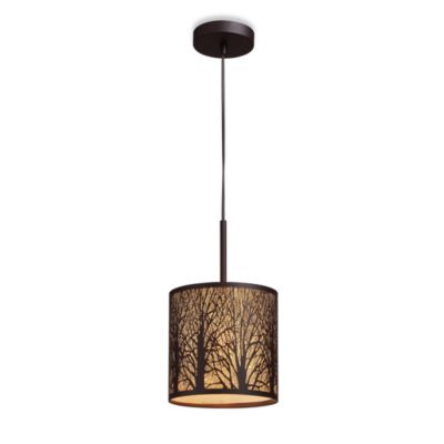 ELK Lighting Woodland Sunrise 1-Light Pendant in Aged Bronze