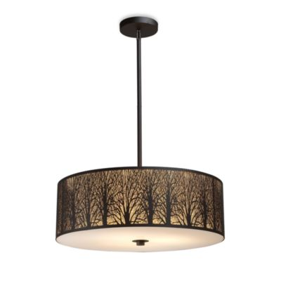 ELK Lighting Woodland Sunrise 5-Light Pendant in Aged Bronze