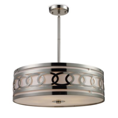 ELK Lighting Zarah 5-Light Pendant in Polished Nickel