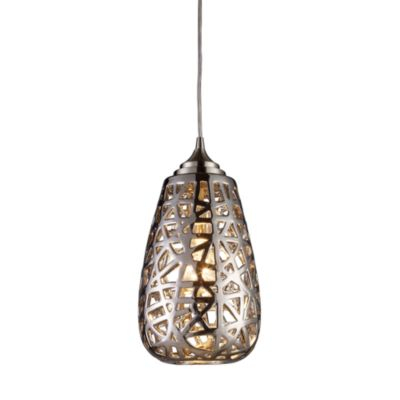 ELK Lighting Nestor 1-Light Pendant in Chrome