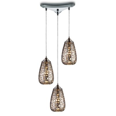 ELK Lighting Nestor 3-Light Pendant Ceiling Lamp in Chrome