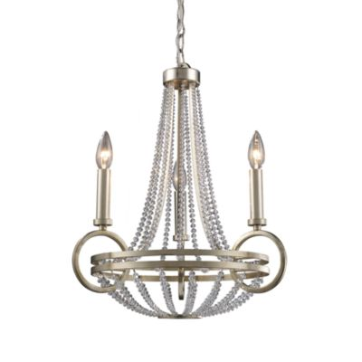 ELK Lighting Trump Home™ Central Park™ New York 3-Light Chandelier in Renaissance Silver