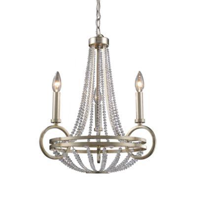 ELK Lighting Trump Home™ Central Park™ New York 3-Light Chandelier in Renaissance Silver