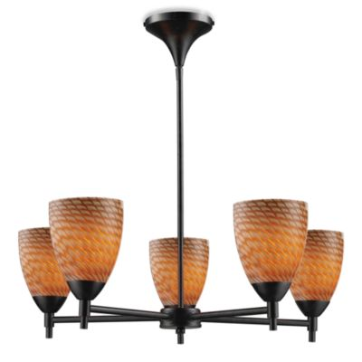 ELK Lighting Celina 5-Light Chandelier in Dark Rust/Coco