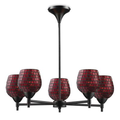 ELK Lighting Celina 5-Light Chandelier in Dark Rust/Copper