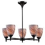 ELK Lighting Celina 5-Light Chandelier in Dark Rust/Crème