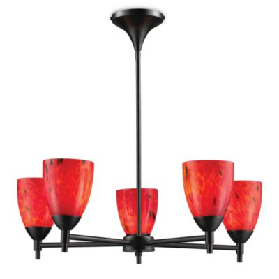 ELK Lighting Celina 5-Light Chandelier in Dark Rust/Fire Red