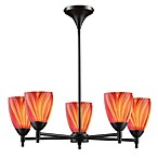 ELK Lighting Celina 5-Light Chandelier in Dark Rust/Multi