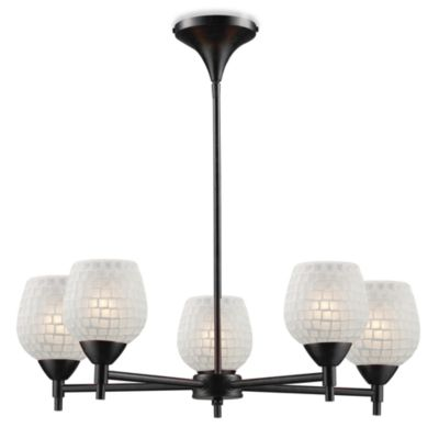 ELK Lighting Celina 5-Light Chandelier in Dark Rust/White