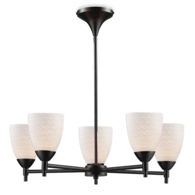 ELK Lighting Celina 5-Light Chandelier in Dark Rust/White Swirl