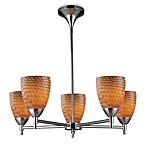 ELK Lighting Celina 5-Light Chandelier in Polished Chrome
