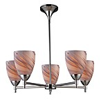 ELK Lighting Celina 5-Light Chandelier in Polished Chrome/Crème