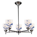 ELK Lighting Celina 5-Light Chandelier in Polished Chrome/Mountain