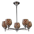 ELK Lighting Celina 5-Light Chandelier in Polished Chrome/Multi Fusion