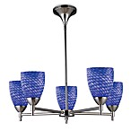 ELK Lighting Celina 5-Light Chandelier in Polished Chrome/Sapphire